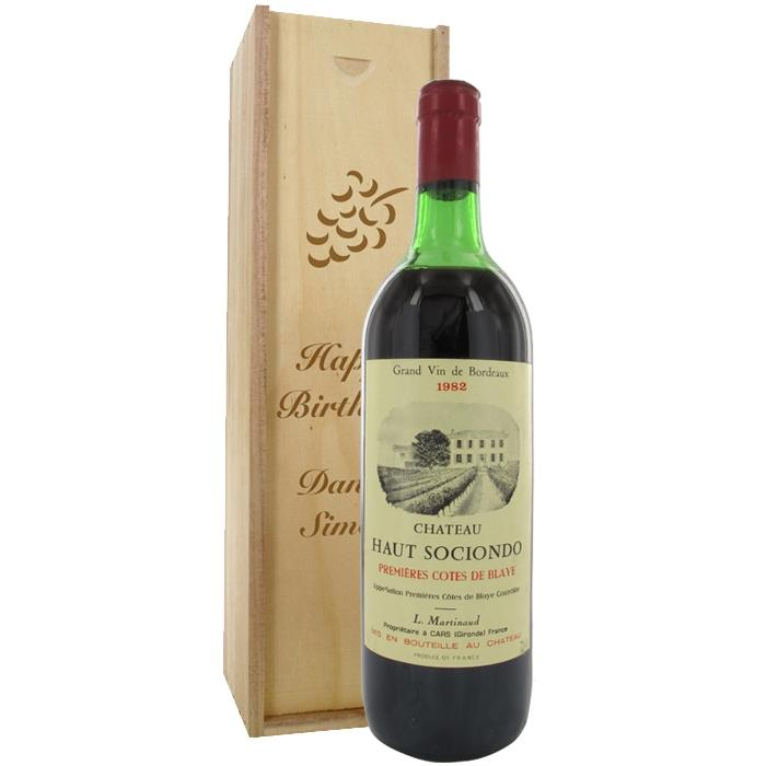 Buy ch teau haut sociondo 1982 red wine for Buy chateaubriand
