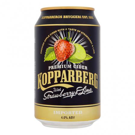 10 X Kopparberg Strawberry and Lime Cider Cans
