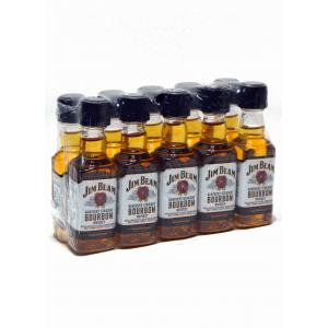 10 X Mini Jim Beam White
