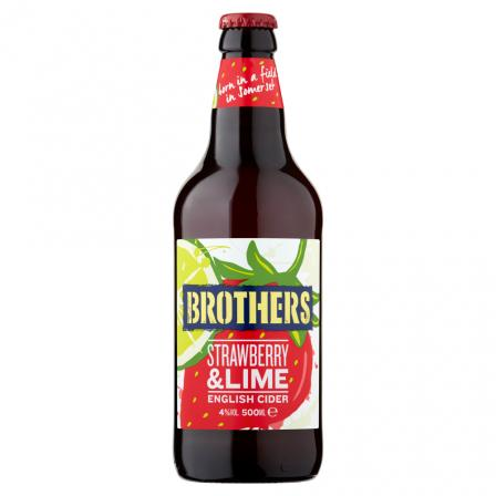 12 X Brothers Strawberry & Lime Cider 500ml