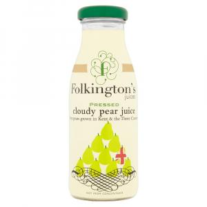 12 X Folkington's Cloudy Pear Juice 250ml