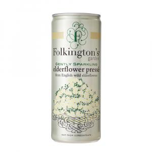 12 X Folkington's Elderflower Sparkling Presse 250ml