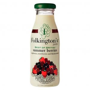 12 X Folkington's Summer Berries Juice 250ml