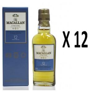 12 x The Macallan Fine Oak 12 Years 50ml