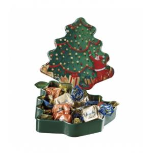 16 X Winter Metal Tin Tree 90g Venchi