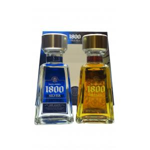 1800 Twin Gift Pack 1800 Reposado and Silver Tequila 200ml