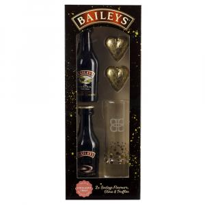 2 X Baileys Flavours Duo Glass & Chocolates Gift