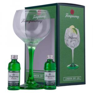 2 X Tanqueray London Dry Gin and Glass Glass Gift Set