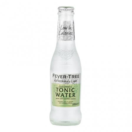 24 X Fever Tree Refreshingly Light Cucumber Tonic 200ml