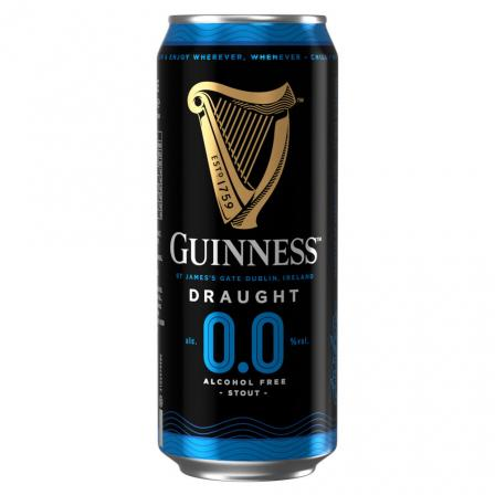 24 X Guinness 0.0 Draught Alcohol Free Stout 440ml
