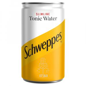 24 X Schweppes Slimline Indian Tonic 150ml Cans