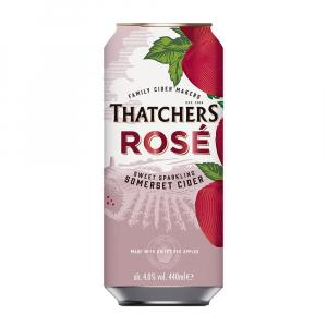 24 X Thatchers Rose Cider Cans 440ml
