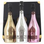 3 X Armand de Brignac Ace Of Spades Trilogie Gold Rose & Blanc de Blancs 75cl Gift Set