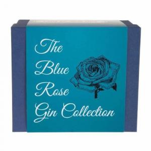 3 X Mini The Blue Rose Gin Collection Gift Set With Gins
