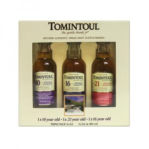3 X Mini Tomintoul Collection Of Whiskies Taster Gift