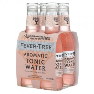 4 X Fever Tree Aromatic Tonic Water 20cl
