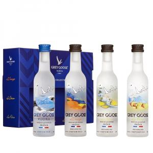 4 X Grey Goose la Collection Vodka Gift