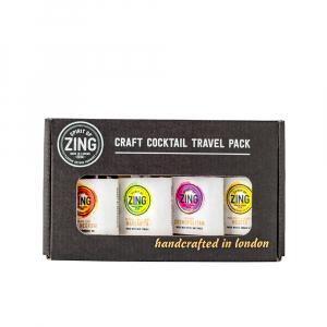 4 X World Of Zing Cocktail Travel 50ml