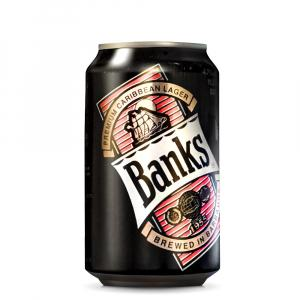 6 X Banks Caribbean Lager Cans