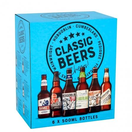 6 X Marstons Classic Ales Of England Mixpack 50cl