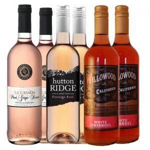 6 X Sunset Glow Rose Wine Collection Mixed Case