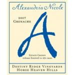 Alexandria Nicole Grenache Estate Grown Destiny Ridge Vineyards  2006