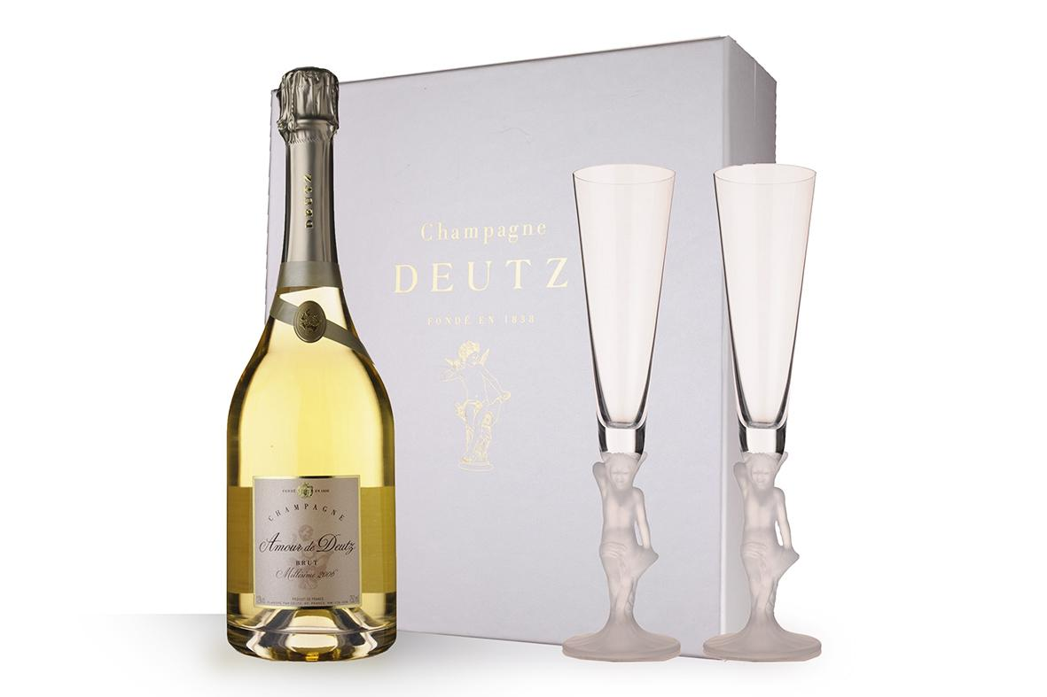 amour de deutz brut coffret 2 fluttes 2006 vin effervescents. Black Bedroom Furniture Sets. Home Design Ideas