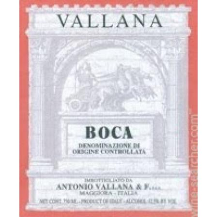 Antonio Vallana & Figlio Boca Casa Rosa Vineyard 2015