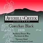 Averill Creek Vineyard Blackberry Cowichan Black Dessert Wine 2014