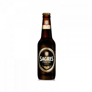 Beer Sagres Black Bottle