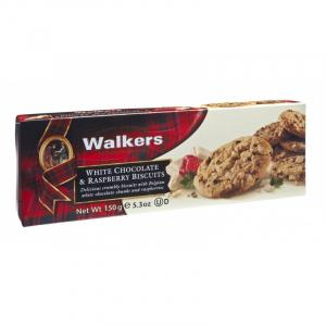 Biscuits con Chips de Chocolate Blanco y Frambuesa Walkers 150g