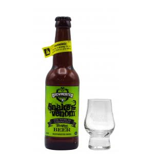 Brewmeister Snake Venom World's Strongest Beer & Free Branded Verre Beer Lager 330ml