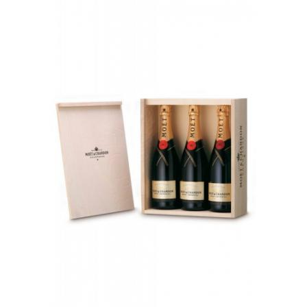 Caja de Madera 3 Botellas Möet & Chandon Brut