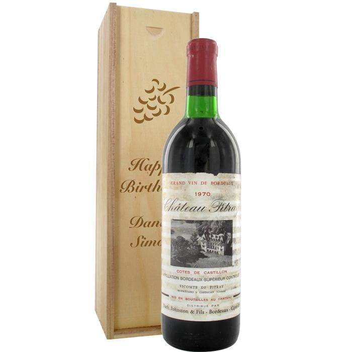Ch Teau Pitray 1970 Wine Red