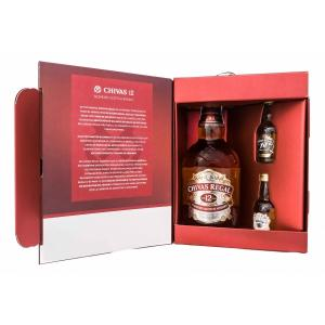 Chivas Regal 12 con 2 Miniaturas
