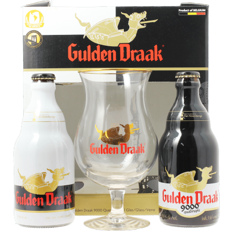 coffret gulden draak 2 bi res 1 verre beer. Black Bedroom Furniture Sets. Home Design Ideas