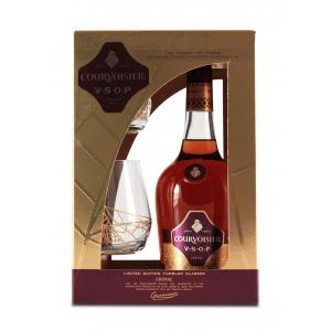 Courvoisier VSOP Case + Glass