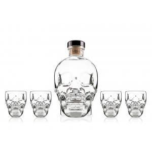Crystal Head Vodka + 4 glasses