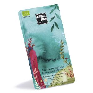 Dark Chocolate 70% Cocoa With Blossom Sea Salt From Ibiza 70g