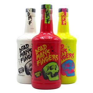 Dead Man's Fingers 3 X Banana Coconut & Cherry Hard To Find Edition Rum