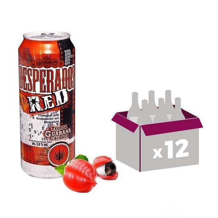 Buy Desperados Red Aromatisee Tequila Cachaca Et Guarana 50cl Price And Reviews At Drinks Co