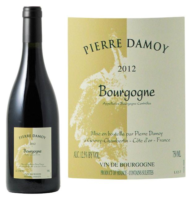 domaine pierre damoy bourgogne pinot noir 2012 vin rouge. Black Bedroom Furniture Sets. Home Design Ideas