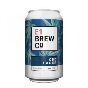 E1 Brew Co Cbd Lager Can
