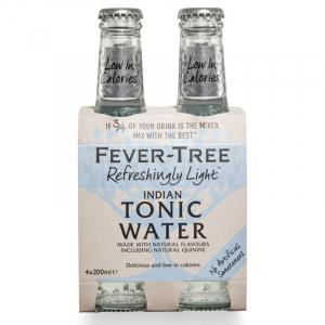 Fever Tree Refreshingly Light Indian Tonic Water 20cl X 4