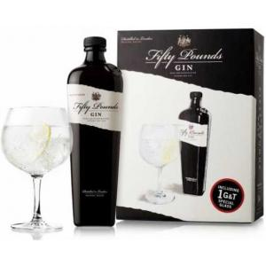 Fifty Pounds Gin + Glass