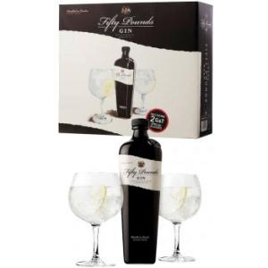 Fifty Pounds Gin Twin Glass Pack
