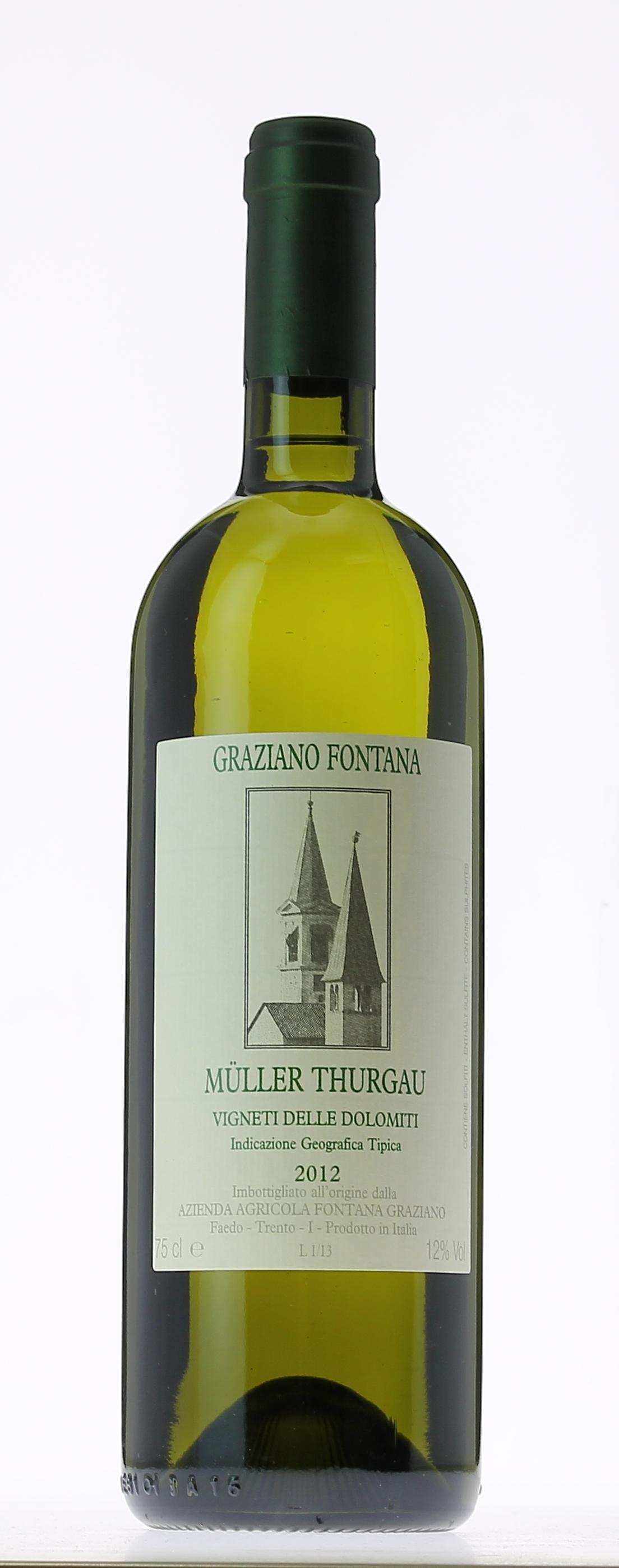 fontana graziano muller thurgau 2013 vin blanc. Black Bedroom Furniture Sets. Home Design Ideas