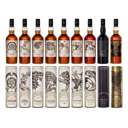 Game Of Thrones All 9 Botellas In The Complete Set