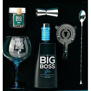 Gin Big Boss With Set 1 Glass 1 Server 1 Flask With Juniper 1 Spoon 1 Colander