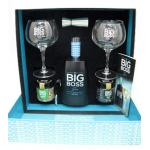 Gin Big Boss With Set 2 Glass 1 Server 2 Flask With Botanicals